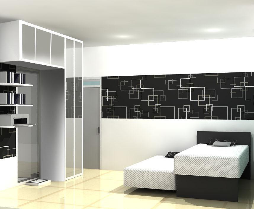 Project interior konsep hitam putih