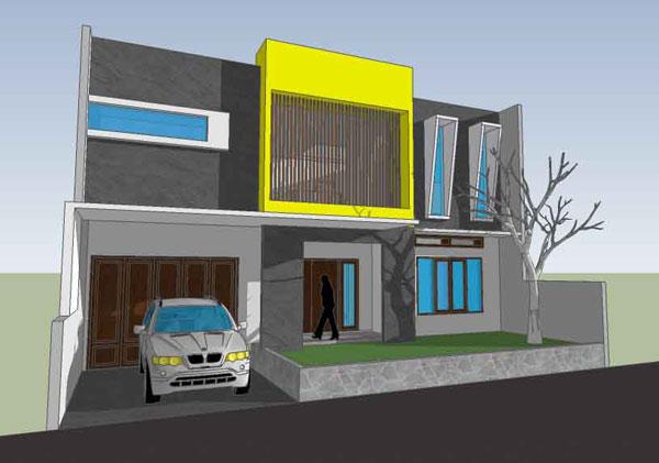 desain rumah bpk omar syarief