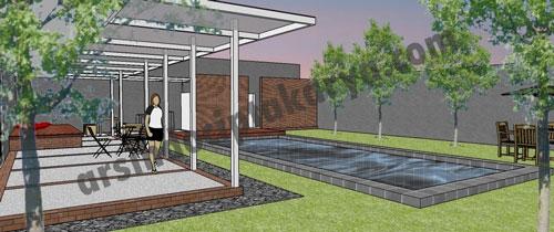 desain interior minimalis kolam renang