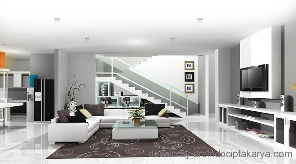 contoh ruang keluarga minimalis modern contoh interior
