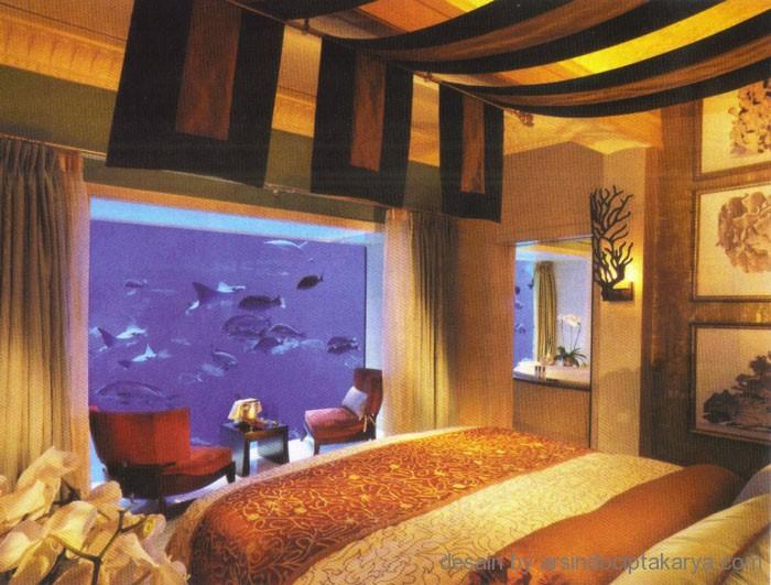 akuarium di kamar tidur