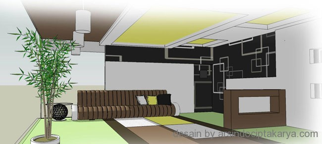 interior ruang karaoke