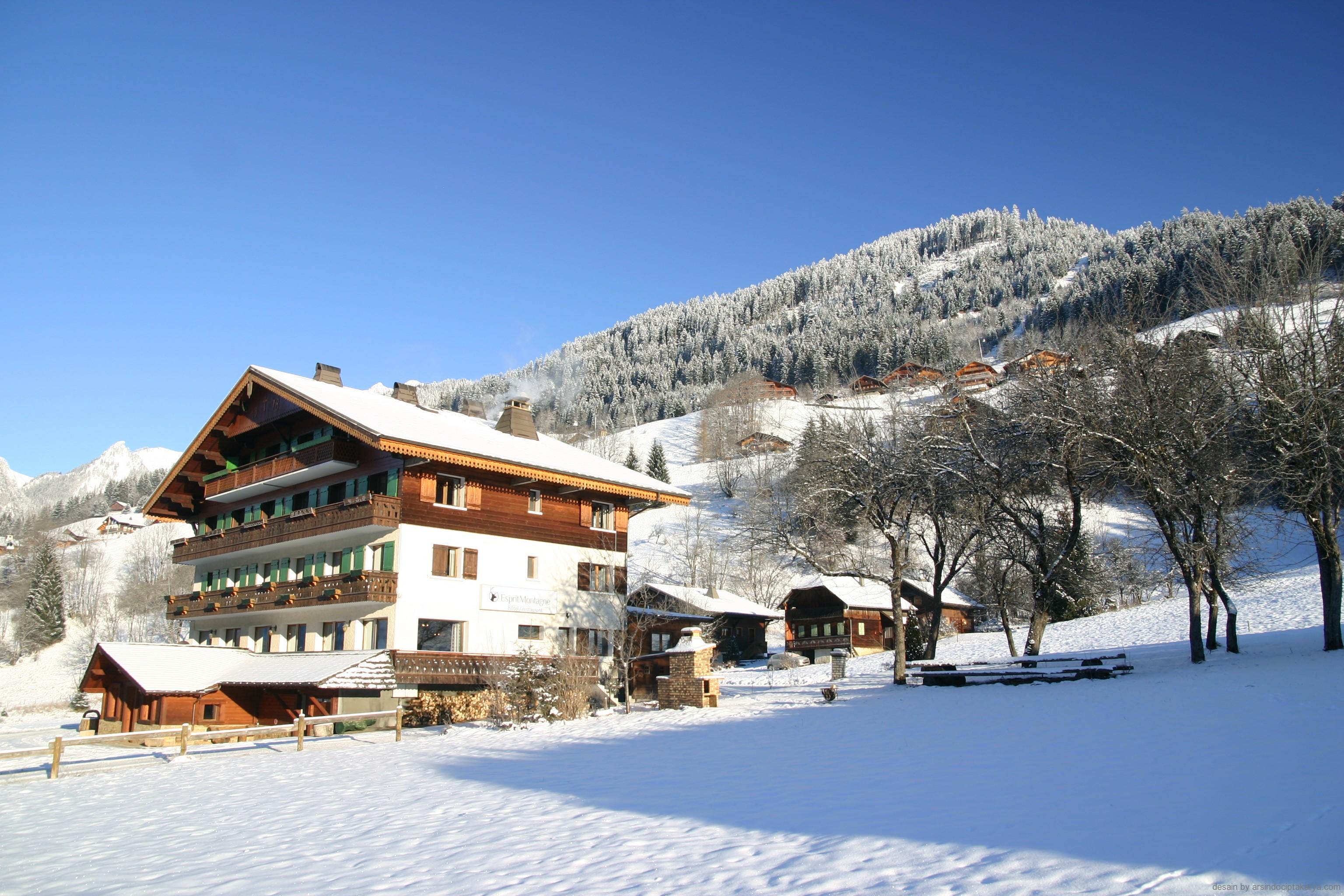 desain hotel di pegunungan