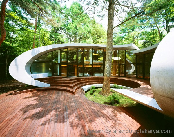 desain villa rumah kayu