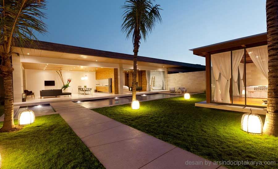 desain villa mewah