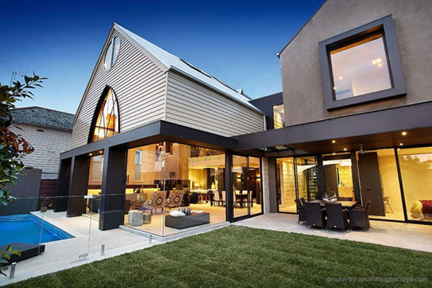 desain rumah kontemporer