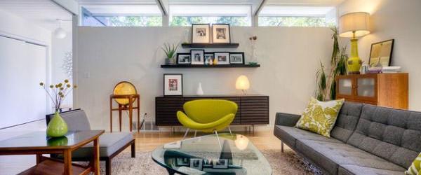 Desain Ruang Tamu Dengan Sentuhan Warna Hijau