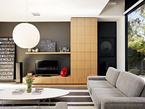 rumah modern hijau