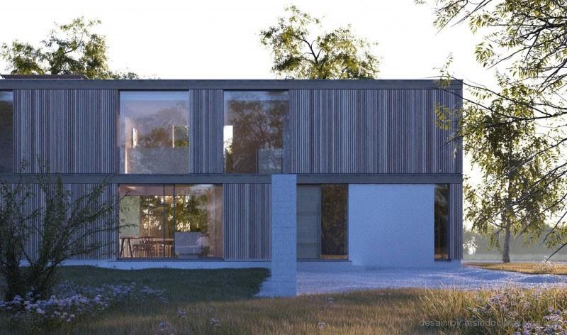 desain rumah box minimalis