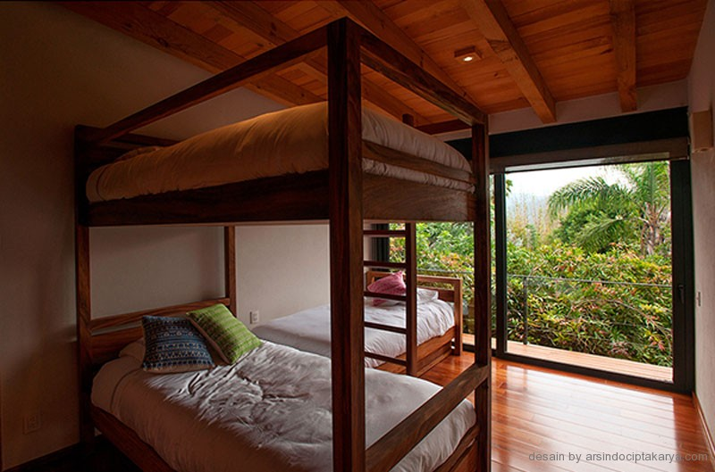 desain interior rumah kayu modern