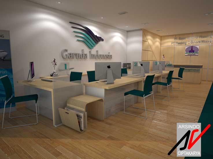 project interior kantor tanjung offshore garuda indonesia