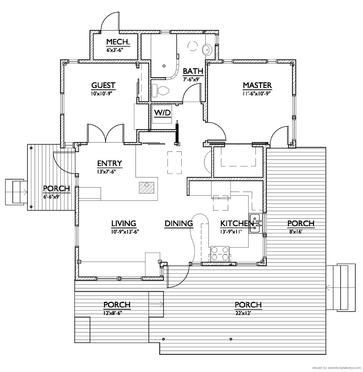 contoh denah rumah