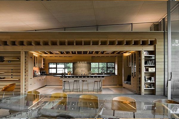 desain dapur rumah kayu