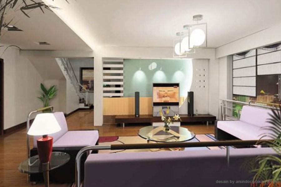 tata letak desain ruang keluarga dan interiornya yang