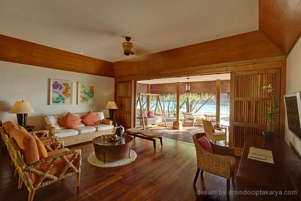desain interior ruang tamu resort