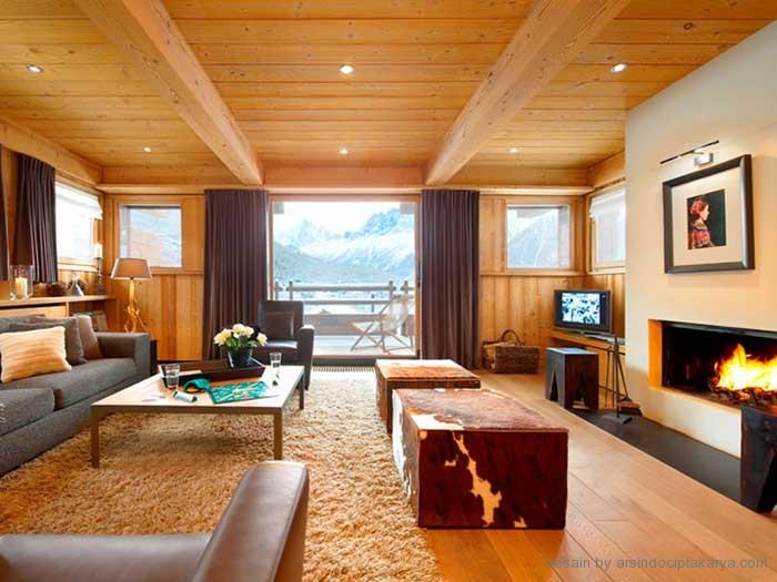 Desain Rumah Minimalis Modern Berbahan Kayu Untuk Musim Dingin
