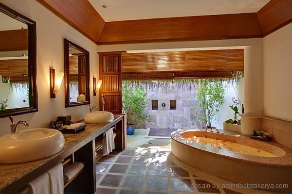 desain kamar mandi resort