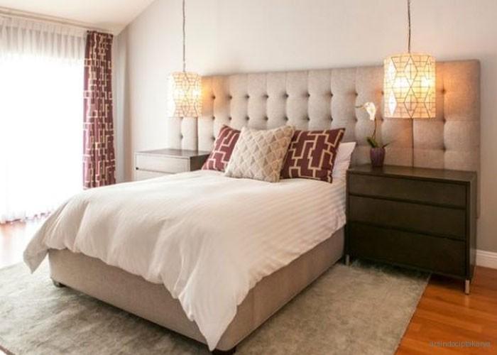dekorasi untuk desain kamar tidur minimalis di ruang utama