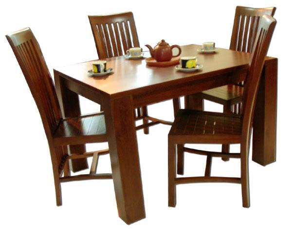 model kursi meja makan kayu
