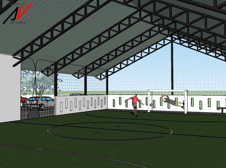 Project Desain Lapangan Futsal Bogor