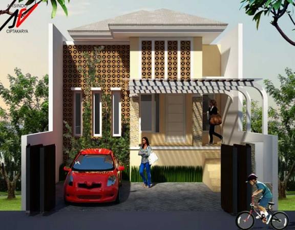 desain rumah bu angelia cibubur