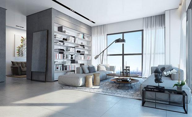 desain interior ruang tamu dan tengah