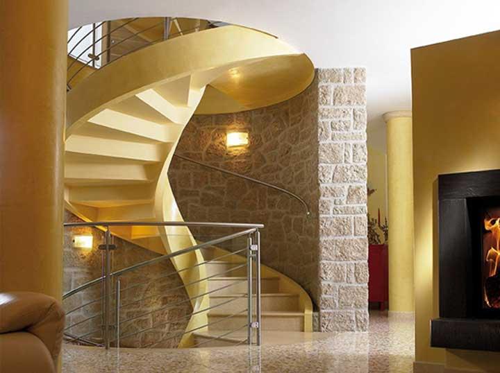 tangga spiral minimalis
