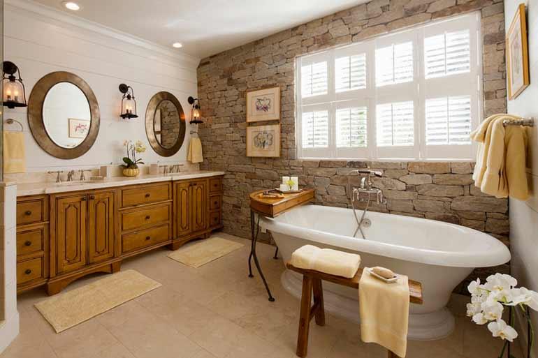 design interior kamar mandi batu ekspos