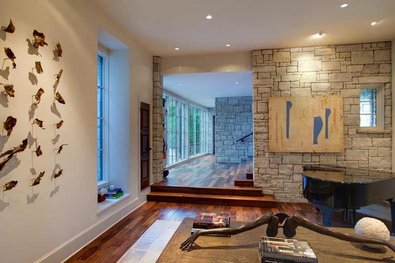 design rumah batu ekspos
