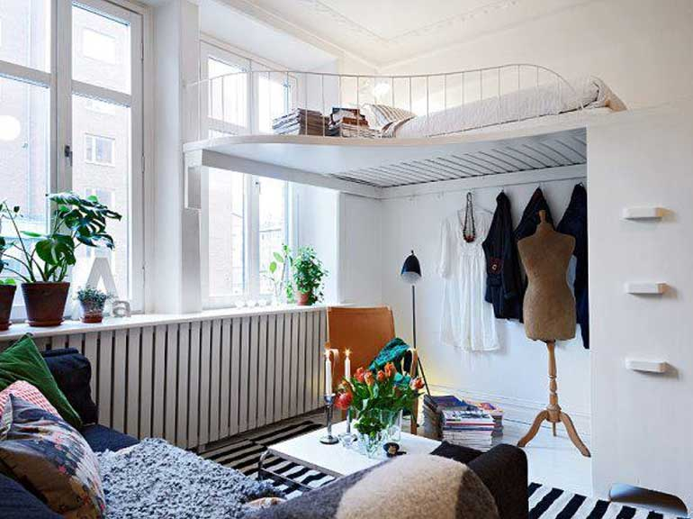 dekorasi kamar tidur ukuran kecil