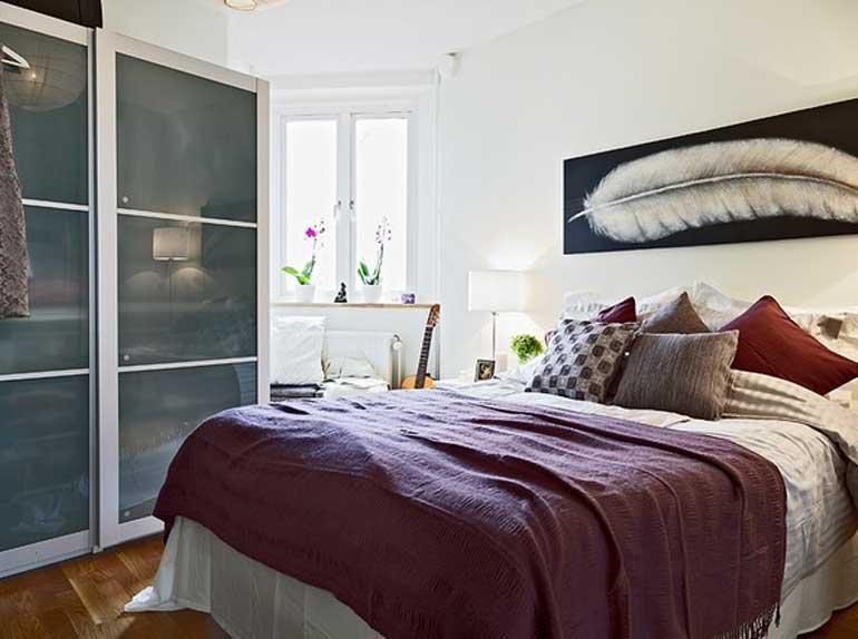 interior kamar tidur ukuran kecil