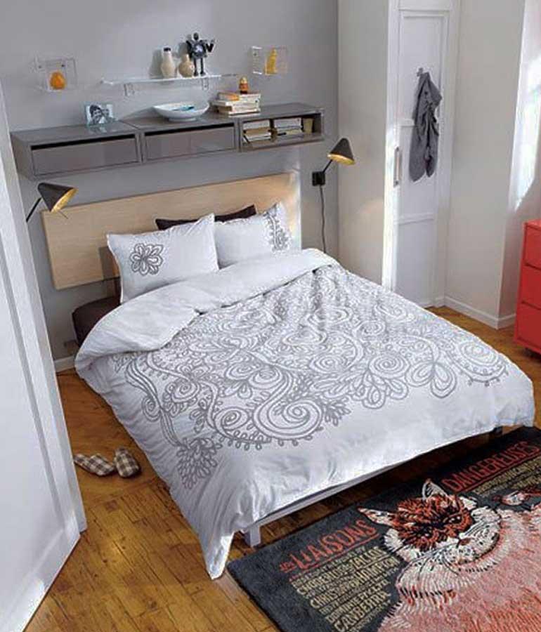 kamar tidur kecil sederhana