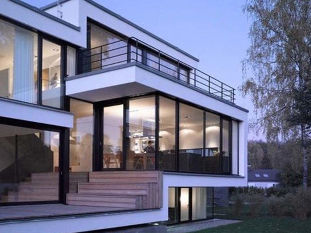 desain interior rumah modern menggunakan lantai parket