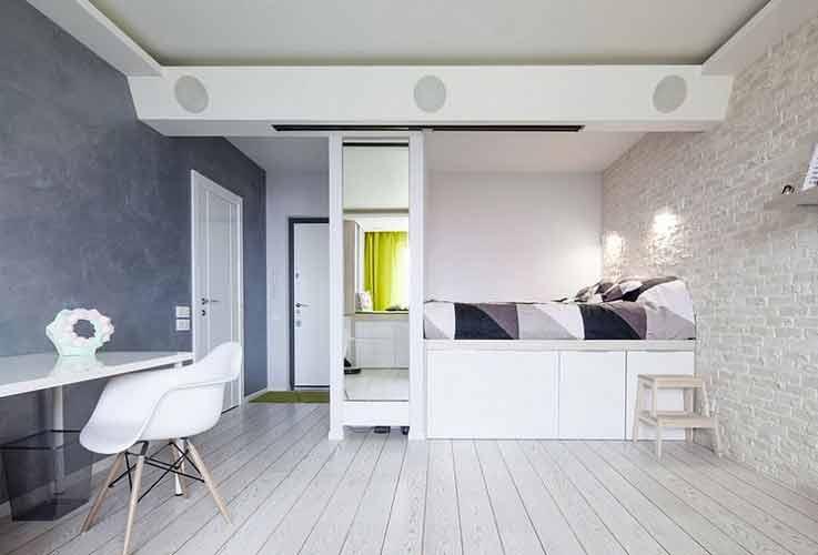 desain tempat tidur kecil