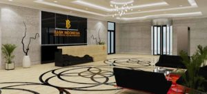 desain interior lobby bank indonesia surabaya