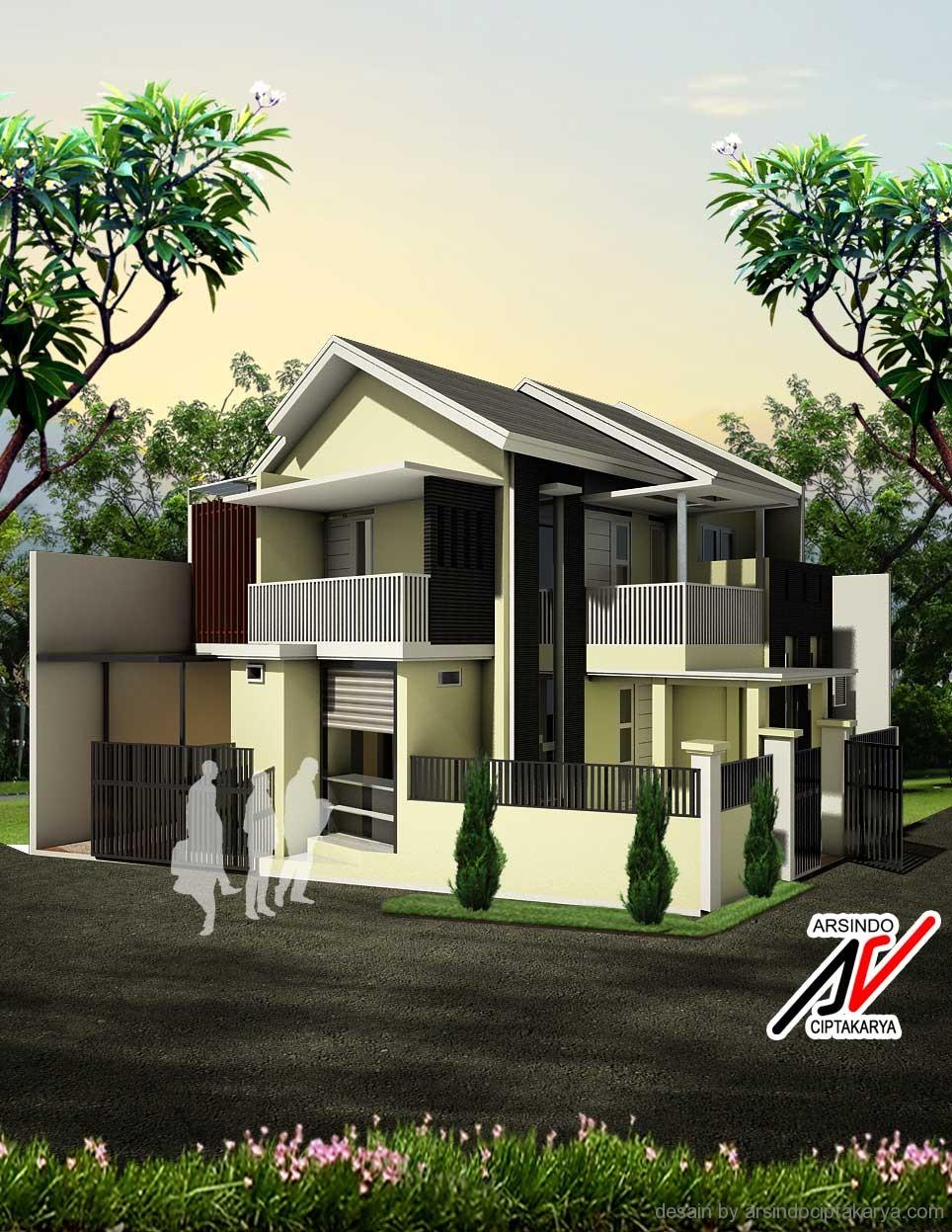 Desain Rumah Type 45 Untuk Lebar Tanah 6 M
