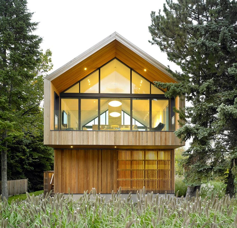 Desain Rumah Kayu Modern Dan Nyaman