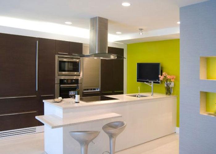 Dapur Dengan Kombinasi Meja Makan Minimalis Untuk Rumah