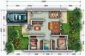 desain rumah 3 kamar 2 lantai yang ideal untuk keluarga