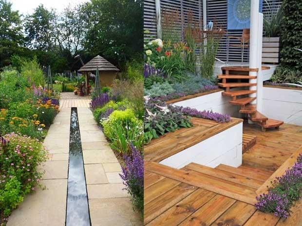 Desain Exterior Rumah Minimalis Paduan Taman Cantik