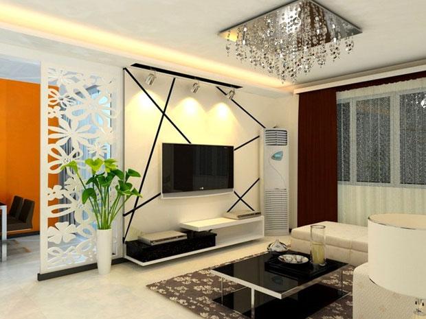 Living Room Ideas Dengan Perpaduan Warna Kreatif