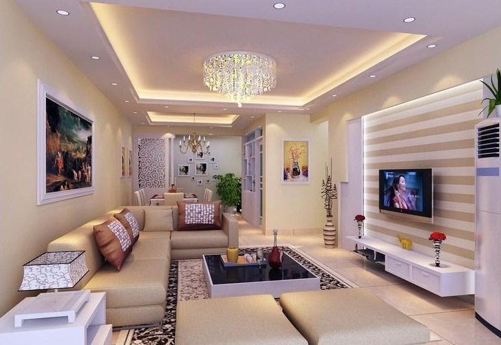 Tray Ceiling Plafon Minimalis Ruang Tamu